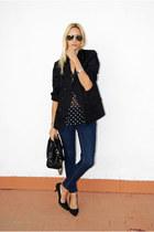 Topshop blouse - Topshop jeans - Topshop blazer - Nine West heels