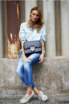 romwe bag - Zara jeans - Topshop blouse