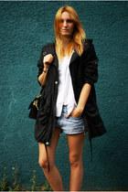 Topshop jacket - Levis shorts - Zara blouse