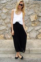 Sheinside skirt - Topshop blouse - moony mood flats