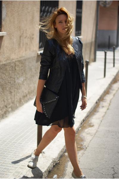 Topshop dress - Kate Moss for Topshop jacket - romwe bag