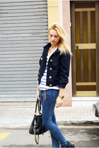 Topshop boots - Topshop jeans - Topman jacket - H&M shirt