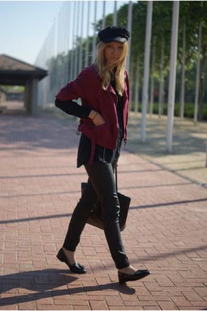H&M jacket - Topshop shoes - Zara blouse - desigual pants