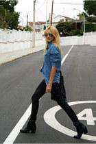 Topshop pants - H&M boots - Zara bag - Topshop blouse