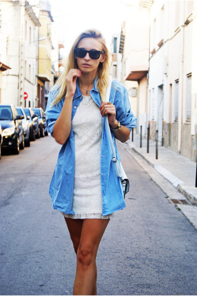 Topshop dress - blue Topman blouse