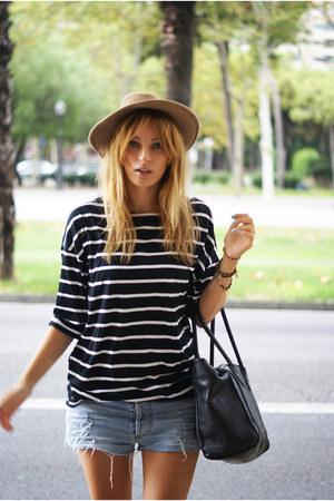 vintage hat - romwe shirt - Levis shorts