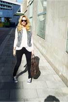 Topshop vest - H&M blouse - black Topshop pants