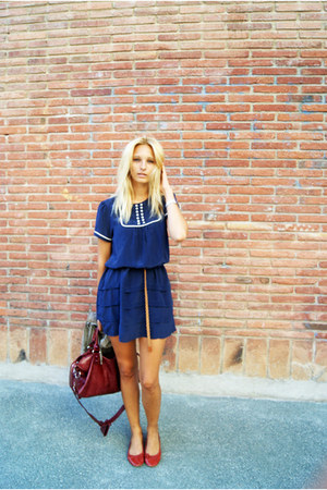 Topshop dress - balenciaga bag