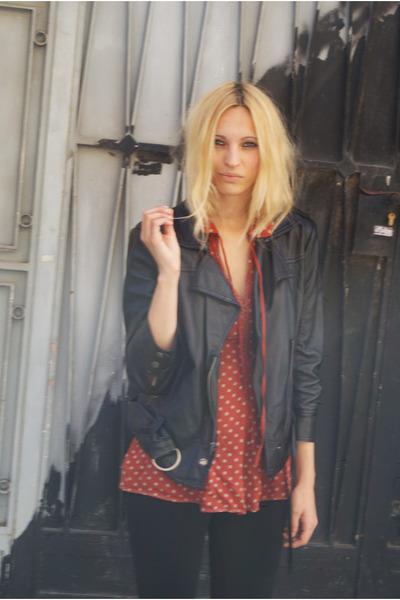 Topshop jacket - Topshop blouse - Zara pants