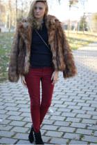 H&M Trend jacket - Zara boots - Zara jeans - nowIStyle jumper