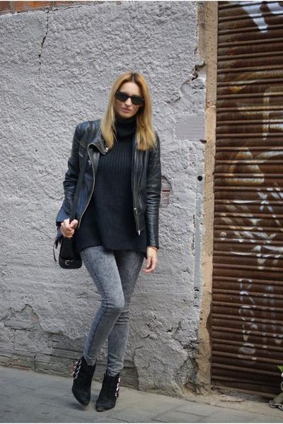 H&M jeans - Zara jacket - Topshop jumper