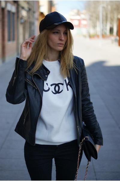 She Inside jumper - Zara jeans - Zara jacket