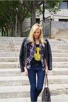Topshop blazer - Zara jacket - BLANCO shirt
