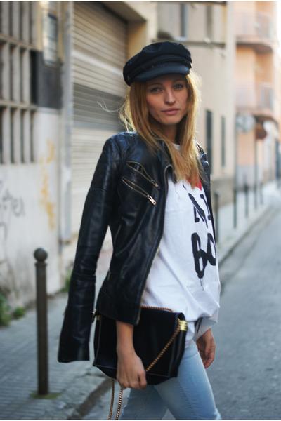 Zara jeans - Zara jacket - BLANCO shirt