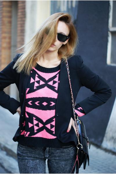 H&M jeans - H&M blazer - Romwecom jumper