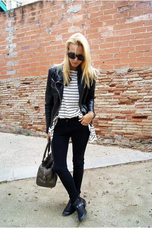 Zara jacket - Topshop boots - H&M shirt - Mango bag - Topshop pants