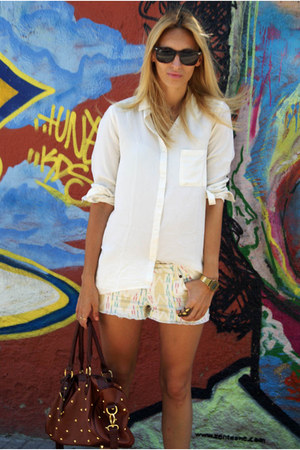 OASAP bag - OASAP shorts - Bershka blouse