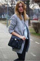 Romwecom coat - desigual jeans - PERSUNMALL bag