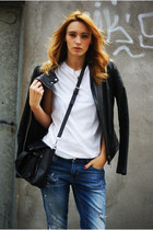 Zara jeans - Zara jacket - Topshop shirt - PERSUNMALL bag