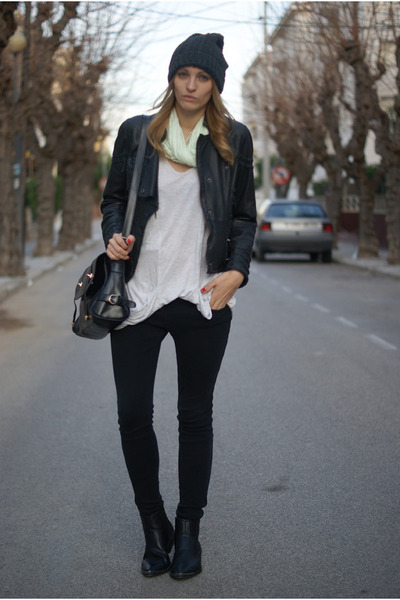 H&M boots - Zara jeans - Topshop jacket
