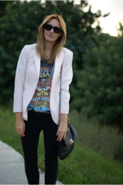 H&amp;M Trend blazer - Romwecom blouse - Topshop pants