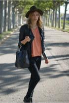nowIStyle shirt - Topshop jeans - Zara hat - nowIStyle bag