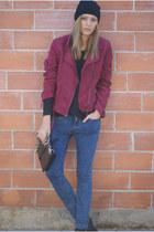 H&M Trend jacket - Topshop jeans - OASAP bag