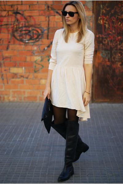 Uterque boots - H&M Trend dress - romwe bag