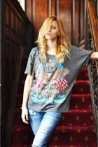 romwe shirt - Zara jeans - romwe bag