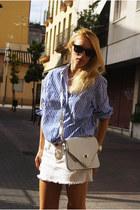 OASAP bag - Topshop skirt - Zara blouse
