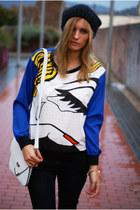 Choies blouse - black Topshop jeans - OASAP bag