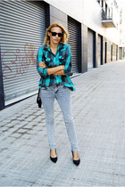 Topman blouse - Topshop jeans - Nine West heels