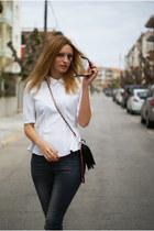 H&M Trend blouse - H&M jeans - Oaspa bag