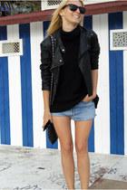 Zara jacket - Levis shorts - Topshop jumper