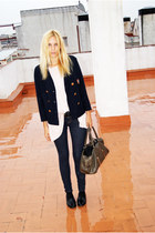 Topshop blazer - Topshop jeans - Mango bag - H&M blouse - Topshop flats