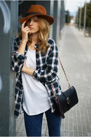 Topshop blouse - Sfera hat - Zara shirt