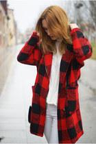 Romwecom coat - H&M jeans - Romwecom bag - Zara flats
