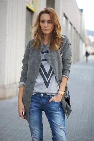 choiescom shirt - Romwecom coat - Zara jeans