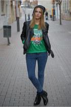 Choies jumper - Zara boots - black Zara jeans - Topshop jacket