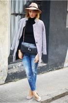 Front Row Shop hat - Zara jeans - Front Row Shop shirt - Romwecom cape