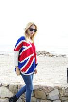 Sheinside sweater - Topshop jeans