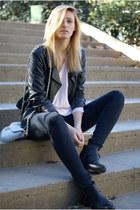 Topshop jacket - Zara boots - H&M shirt