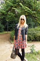 Topshop dress - Zara jacket - Mango bag