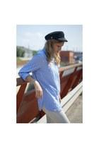 Zara jeans - choiescom hat - Topshop blouse