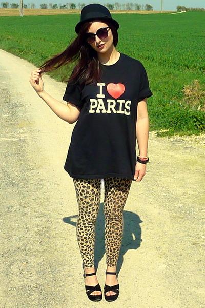H&M pants - black platforms Primark sandals