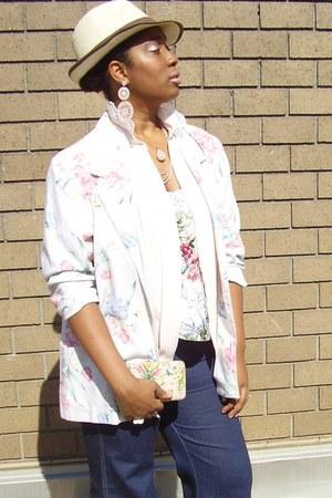 floral Etsy blazer - floral vintage blouse