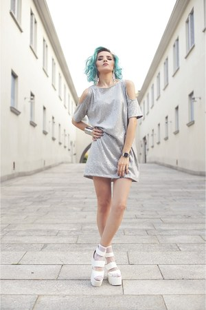 Motel Rocks dress - la moda socks - River Island cardigan