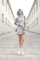 Motel Rocks dress - la moda socks - River Island cardigan