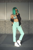 SARAH MULDER necklace - Choies sunglasses - nike sneakers - Triangl swimwear