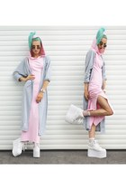Elisha Francis accessories - DressLink cardigan - YRU sneakers